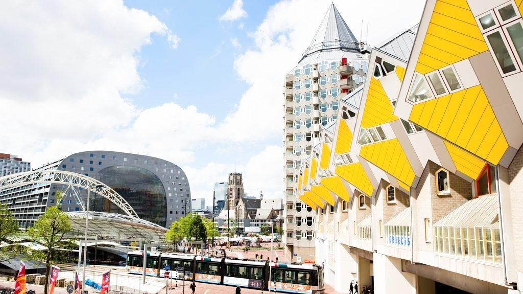 Rotterdam-city-skyline-with-market-hall