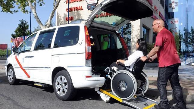Para Taxi Personas Con Ruedas De Discapacidad Silla